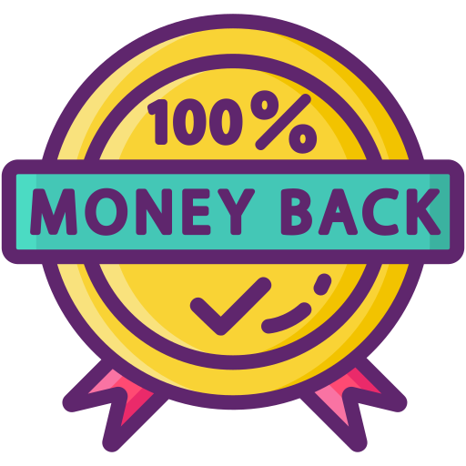 100% money back garrenty